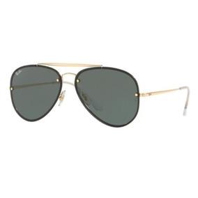 a40ecd1767d77 Oculos Sol Ray Ban Blaze Aviador Rb3584n 905071 61mm Dourado