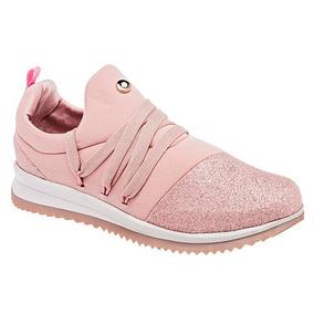 Tenis Sneaker Udt Casual Niñas Rosa Moramora Textil U77708 027f319b17bd2