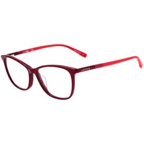 9b3d4386a7997 Lacoste L 2751 - Óculos De Grau 615 Vinho E Vermelho Brilho