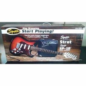 Guitarra Electrica Squier Strat Sp 10 Amplificador Forro