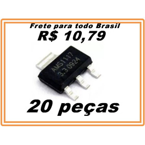 Regulador Tensao Ams1117 3v3 3.3v Ams Kit 20 Peças