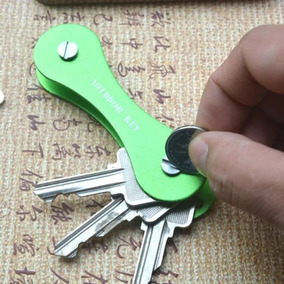 Kit 10 Chaveiros Key Smart Organizador De Chaves Verde