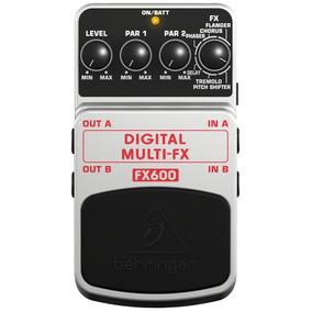 Pedal Behringer Fx600 C/nf Multi Fx Delay Chorus Flanger...