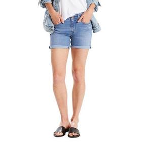 Shorts Jeans Levis Mid Length Update Lavagem Média