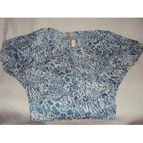 Blusa Estampada Verde E Branca Arestta Plus Size Tam Ùnico 8338f0f346f