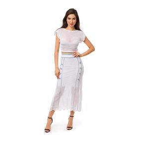 fd7b576bd74 Conjunto Cropped Branco - Saias Midis ao melhor preço no Mercado ...