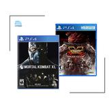 Mortal Kombat Xl + Street Fighter V Arcade Edition Ps4