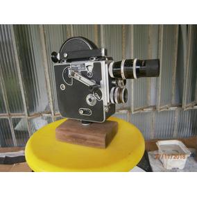 Câmera Filmadora, Antiga, À Corda, Paillar Bollex Dècada De