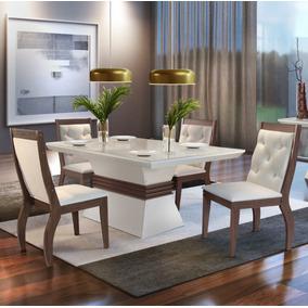 Mesa De Jantar Agata 1,80 X 0,90 C/6 Cadeiras - Rufato