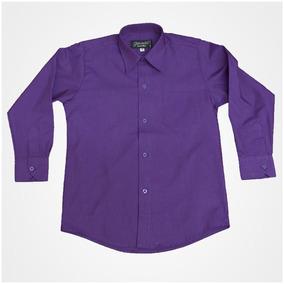Camisas Manga Larga para Niños Violeta oscuro en Mercado Libre México 7045def401beb