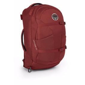 Mochila Viaje Osprey Farpoint 40 Rojo