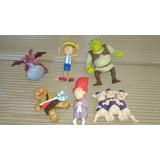 Mcdonalds Shrek - Lote De 6 Figuras Sin Sonido Impecables !
