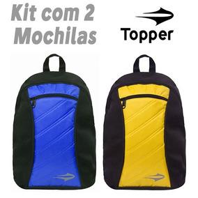Mochila Topper Sport 17 (kit 2 Peças) Original 12x Sem Juros