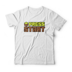 Camiseta Press Start Branca Infantil 78df2d607ec