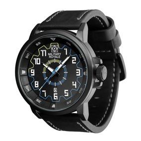 316c430c13c Relógio Masculino Original Military Royale Pulseira Couro