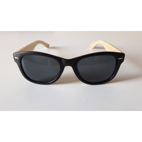 e3dc91dcb12d8 Óculos De Sol Masculino Haste De Bambu E 2 Lentes + Estojo