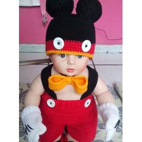 Disfraz De Mickey Para Bebé Tejido Para Sesión De Fotos