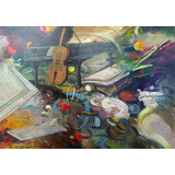 Pintura Cuadro . Coleccion : Composicion Musical. N- 1