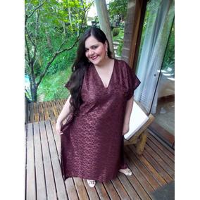Kaftan Renda - Kaftan Longo Festa Plus Size - Vestido Caftan