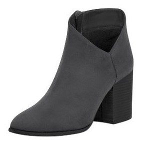 e12b54fd Zapatos Botin Bota Plataforma Gamuza - Botas y Botinetas Cklass Gris ...