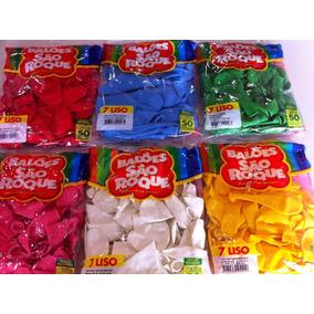 Balões São Roque Nº 7 C/50un R$6,25