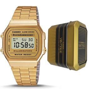Reloj Casio Retro Dorado Vintage A168wg-9w Original Unisex*