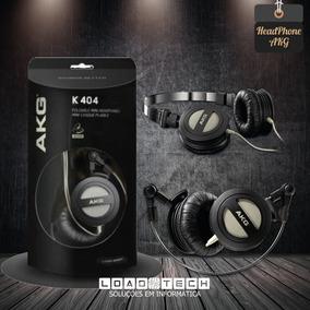 Akg K404 - Fone De Ouvido Dobrável Preto
