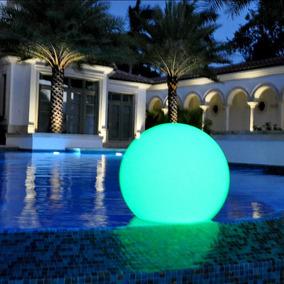 Bola De Led Flutuante Starlight Decoração Jardim E Piscinas