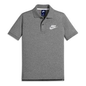 800005c606 Camisa Polo Nike Infantil Sportswear Cinza