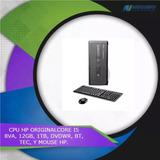 Cpu Hp Original Core I5 8va, 12gb, 1tb, Dvdwr, Bt, Tec