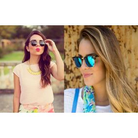 09e2257b11e9f Oculos Feminino De Sol Quadrado Espelhado Modelo Gatinho - Óculos De ...