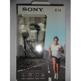 Fone Ouvido Sony Sport Earphone E14 Stéreo P/celular Preto