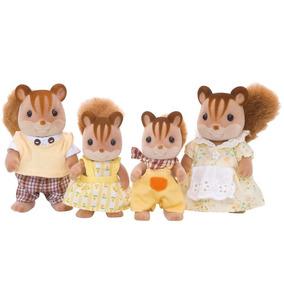 Família Dos Esquilos Noz - Sylvanian Families