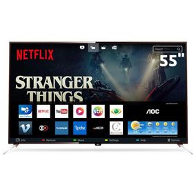 Smarttv 55 4k Aoc Le55u7970 App Gallery Botão Netflix Digi N