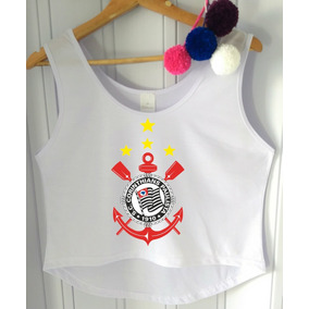 Blusa Cropped Corinthians Feminina Regata Cavada Barato!!! 2 cores. R  26 92 db60c5d5b3d54