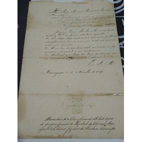 Documento Histórico Da Cidade De Maranguape Com Selo Da Epoc
