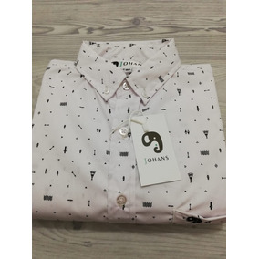 Camisa Casual Slim Fit Johans Blanca Con Estampado