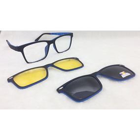 Armação Para Óculos De Grau Com Clip On São 4 Modelos - Óculos no ... 40a9940fcd