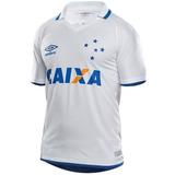 179933ec6c Lançamento Nova Camisa Cruzeiro 2017 2018 Umbro Branca Azul ...