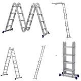Escada Alumínio Articulada 4x4 16 Degraus Multifuncional Mor