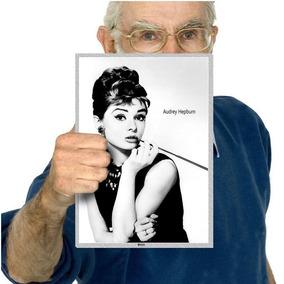 Quadro Poster Classicos Do Cinema Audrey Hepburn A4 06