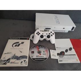 Playstation 2 Fat Branco Bloqueado Completo Muito Barato