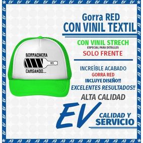 Gorra Personalizada Red Con Vinil Textil Strech (12 Gorras)