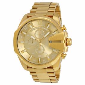 Reloj Diesel Mega Chief Gold Dz4360 Para Hombre