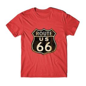 Roupas Unissex Route 66 Usa Várias Cores Camisetas