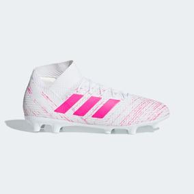 e554803637c22 Taquetes adidas De Fútbol Nemeziz 18.3 Blancos Con Rosa