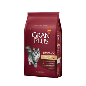 Ração Granplus Gatos Adultos Castrados Frango E Arroz - 10kg