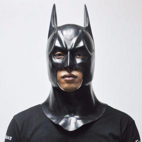 Máscara Batman Longa Látex Herói Liga Da Justiça Envio: 24h