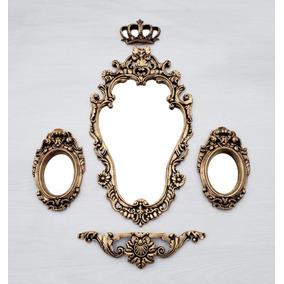 Kit Espelhos Casa E Decoração Barrock Tok&stok - Promoção