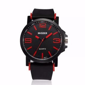 Relógio Masculino Analógico Pulseira De Silicone Migeer